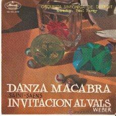 Discos de vinilo: DANZA MACABRA INVITACIÓN AL VALLS SAINT-SAENS, ESTA DEDICADO VER FOTOS, DE CONSERVAC. Lote 32294708