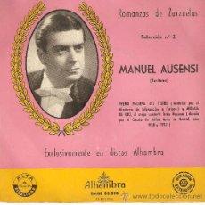 Discos de vinilo: MANUEL AUSENSI , ROMANZAS DE ZARZUELA , DE CONSERVACION . Lote 32294828