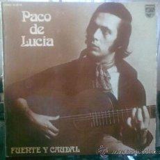 Discos de vinilo: PACO DE LUCIA. LP. 8 CANCIONES.. Lote 32297677