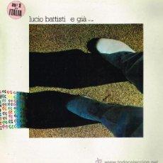 Discos de vinilo: LUICO BATTISTI - E GIA - LP 1982 - PORTADA DOBLE. Lote 156600349