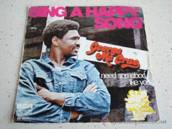 Discos de vinilo: GEORGE Mc CRAE ( SING A HAPPY SONG - I NEED SOMEBODY LIKE YOU ) 1975-FRANCE SINGLE45 RCA - Foto 1 - 32323423