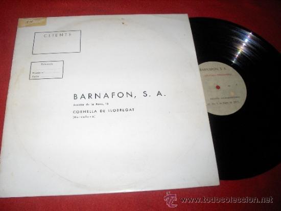 RJ2 PUNTO ESTEREOFONIA EMISIÓN 6 MAYO 1977 RADIO JORDI ESTADELLA BARNAFON ACETATO (Musik - Vinyl-Schallplatten - LP - Andere Stile)