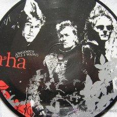 Discos de vinilo: A-HA AHA ANALOGUE PICTURE DISC 45 SINGLE VINILO. Lote 32344252