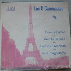 Discos de vinilo: LOS 5 CAMINANTES, LLAMA AL AMOR, EP LUYTON, 1964, EXCELENTE ESTADO + INFORM OFERTA. Lote 36713128