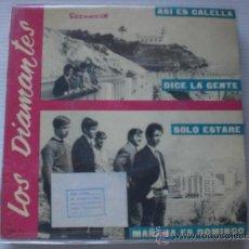 Discos de vinilo: LOS DIAMANTES, ASI ES CALELLA, EP SANDIEGO 1966 NUEVO, SELLO SGAE, OFERTA. Lote 36713129