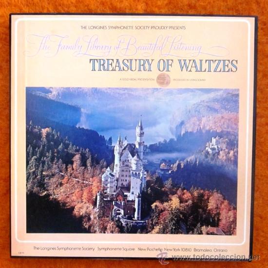 TREASURY OF WALTZES - CAJA CON 3 LPS - EXCELENTE ESTADO (Música - Discos - LP Vinilo - Clásica, Ópera, Zarzuela y Marchas)