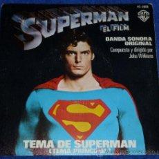 Discos de vinilo: SUPERMAN - TEMA PRINCIPAL BSO. Lote 32355188