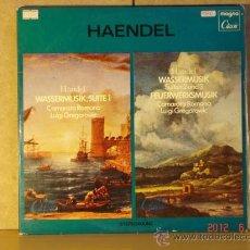 Discos de vinilo: JORGE FEDERICO HAENDEL - JUEGOS DEL AGUA SUITES 1, 2 Y 3 /MUSICA DE LOS FUEGOS ARTIFICIALES DOBLE LP. Lote 32356758