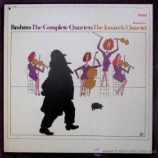 Discos de vinilo: BRAHMS - THE COMPLETE QUARTETS - THE JANÀCEK QUARTET - CAJA CON 2 LPS - ED. USA (EXCELENTE ESTADO). Lote 32361311