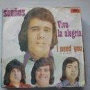 Discos de vinilo: SUEÑOS, VIVA LA ALEGRIA, SINGLE PHILIPS, 1971, VER + INFOR. Lote 32372243
