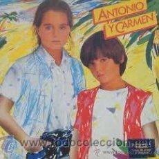Discos de vinilo: ANTONIO Y CARMEN-SU PRIMER LP-1982. Lote 32372674