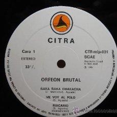 Discos de vinilo: DISCO VINILO - ORFEON BRUTAL CITRA 1985 - NUEVO SIN USO. Lote 32379548