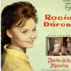 Discos de vinilo: EP ROCIO DURCAL -ROCIO DE LA MANCHA-QUE TENGAS SUERTE-CANTA CONMIGO-NUBES DE COLORES -ALEGRIAS DE RO. Lote 32378631