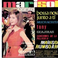 Discos de vinilo: EP MARISOL RUMBO A RIO-BOSSA NOVA JUNTO A TI-MUCHACHITA-TONY -GUAJIRAS. Lote 32378686