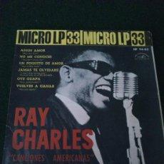 Discos de vinilo: RAY CHARLES, CANCIONES AMERICANAS. MICRO LP ABC- PARAMOUNT, 33RPM. Lote 32392786