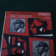Discos de vinilo: RAY CHARLES GOIN TO THE RIVER, VERGARA 1963. SINGLE. Lote 32393717