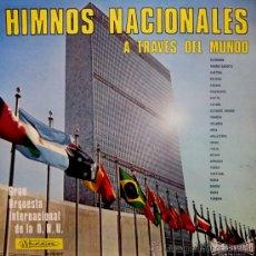 Discos de vinilo: HIMNOS NACIONALES - ORQUESTA INTERNACIONAL DE LA ONU - 1967 (EXCELENTE ESTADO). Lote 32417144