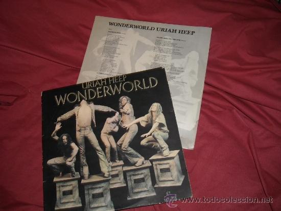 URIAH HEEP LP WONDERWORLD 1974 CONM ENCARTE VER FOTO ADICIONAL (Música - Discos - LP Vinilo - Heavy - Metal)