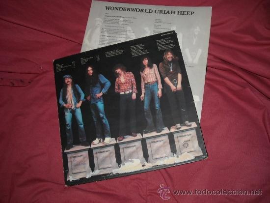 Discos de vinilo: URIAH HEEP LP WONDERWORLD 1974 CONM ENCARTE VER FOTO ADICIONAL - Foto 2 - 187539691