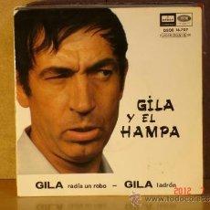 Discos de vinilo: GILA - GILA Y EL HAMPA - EMI-ODEON DSOE 16.707 -1966. Lote 32431813