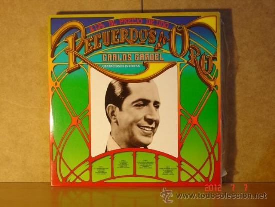 CARLOS GARDEL - RECUERDOS DE ORO - EPIC EPC 88551 - 1981 - DOBLE LP (Música - Discos - LP Vinilo - Grupos y Solistas de latinoamérica)