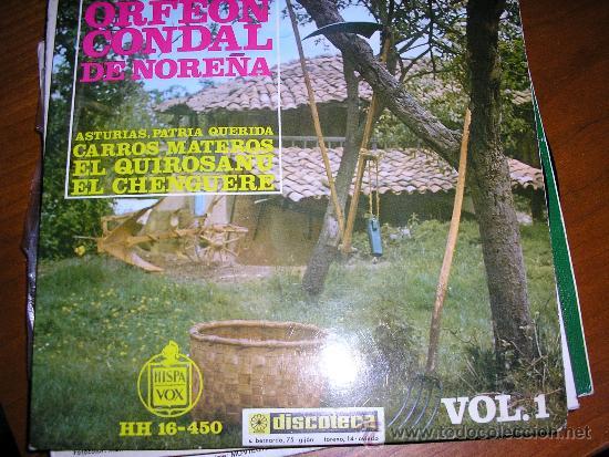EP ORFEON CONDAL DE NOREÑA ASTURIAS (Música - Discos de Vinilo - EPs - Country y Folk)