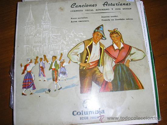 EP CUARTETO VOCAL ASTURIANO Y JOSÉ MORÁN ASTURIAS (Música - Discos de Vinilo - EPs - Country y Folk)