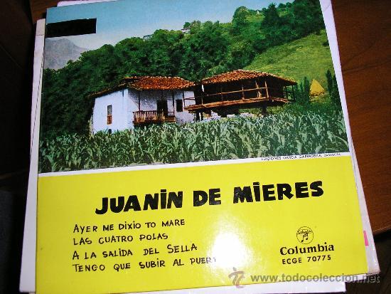 EP ASTURIAS JUANIN DE MIERES TEMAS EN CONTRAPORTADA (Música - Discos de Vinilo - EPs - Country y Folk)