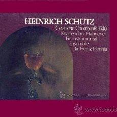 Discos de vinilo: SCHUTZ..GEISTLICHE..HANNOVER CAJA 3 LP CON LIBRETO EMI DEWUTSCHE HARMONIA MUNDI. Lote 26803772