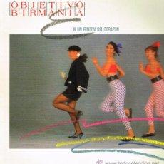 Discos de vinilo: OBJETIVO BIRMANIA - EN UN RINCÓN DEL CORAZÓN / TITUBEO - MAXISINGLE 1985. Lote 32467404