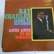 Discos de vinilo: RAY CHARLES - JAMAS TE OLVIDARE + 3 EP 1968. Lote 32475522