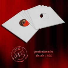 Discos de vinilo: 100 CARPETAS GENERICAS / FUNDAS DE CARTON BLANCO PARA DISCOS DE VINILO LP Y MAXI -NUEVAS-. Lote 228616650