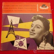 Discos de vinilo: CATERINA VALENTE ( GRANADA - SI TOUT ÉTAIT FINI - MALAGUEÑA - DONNE TA MAIN ET VIENS ) GERMANY EP45. Lote 32469946