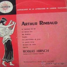 Disques de vinyle: ARTHUR RIMBAUD - LE DORMEUR DU VAL + 7 - ORIGINAL FRANCES - LUMEN . Lote 32476423