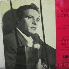 Disques de vinyle: FRANCISCO RABAL - RECITA GARCIA LORCA - VERGARA 1962. Lote 32477550