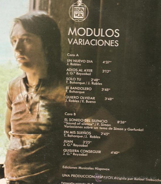 Discos de vinilo: LP MODULOS : VARIACIONES - Foto 2 - 32480365