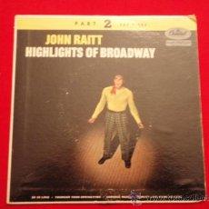Discos de vinilo: JOHN RAITT ( SOLILOQUY - HOW ARE THINGS IN GLOCCA MORRA - OLD DEVIL MOON ) USA EP45 CAPITOL. Lote 32481103