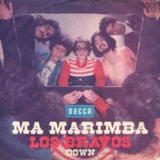 Discos de vinilo: LOS BRAVOS - SINGLE VINILO 7'' - MA MARIMBA + DOWN - EDITADO EN ALEMANIA - DECCA 1974. Lote 32520442