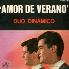 Discos de vinilo: DUO DINÁMICO - EP VINILO 7'' - EDITADO EN FRANCIA - AMOR DE VERANO + 3 - REGALO DE CD SINGLE. Lote 32520478