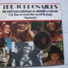 "Discos de vinilo: THE JORDONAIRES, ME GUSTARIA ENSEÑNAR, SINGLE 7"" VERGARA SPAIN 1972, SEMINUEVO. Lote 32522206"