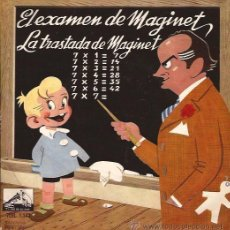 Discos de vinilo: SINGLE-EL EXAMEN DE MAGINET-JOSE Mª TARRASA-VSA 1142-1958. Lote 32528941