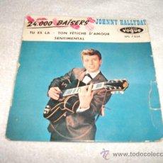 Discos de vinilo: JOHNNY HALLYDAY / 24.000 BAISERS / DISQUES VOGUES 1961. Lote 32529349