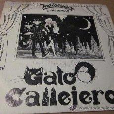 Discos de vinilo: INDIOSUAVE - GATO CALLEJERO - PROMO.- MOVIDA.. Lote 32534384