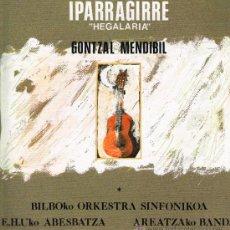 Discos de vinilo: GONTZAL MENDIBIL - IPARRAGIRRE. HEGALARIA - DOBLE LP 1992 - PORTADA DOBLE. Lote 32550599
