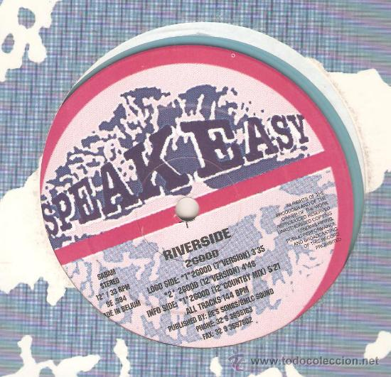 Discos de vinilo: 3 DISCOS DE ELECTRONIC TRANCE : SPEAKEASY, RAVE 55, SEE:3 , RIVERSIDE, JOHNNY W. - Foto 4 - 32563112