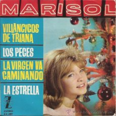 Discos de vinilo: EP-MARISOL-ZAFIRO 489-VILLANCICOS-VINILO MULTICOLOR-1963. Lote 32570750