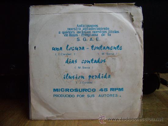 Discos de vinilo: Dinamik group - Ilusion perdida/Una locura/Dias contados/Tontamente (Sandiego 1975) - Foto 2 - 32567831