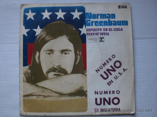 NORMAN GREENBAUN, ESPIRITU EN EL CIELO, HISPAVOX SPAIN 1970, (Música - Discos - Singles Vinilo - Pop - Rock Internacional de los 50 y 60)