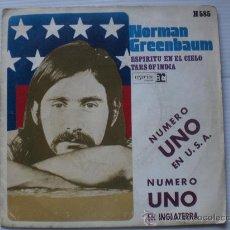 Discos de vinilo: NORMAN GREENBAUN, ESPIRITU EN EL CIELO, HISPAVOX SPAIN 1970, . Lote 32593999