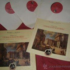Discos de vinilo: VERDI CAJA CON 3 LP Y LIBRETO UN BALLO IN MASCHERA EMI ITALIANA VER FOTO ADICIONAL. Lote 32600062